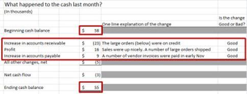draft cash flow focus report